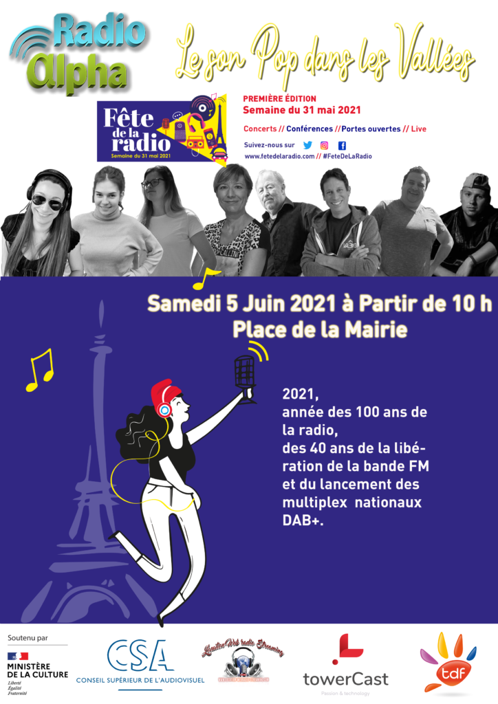 021 Affiche Fete de La Radio 5 juin Radio Alpha